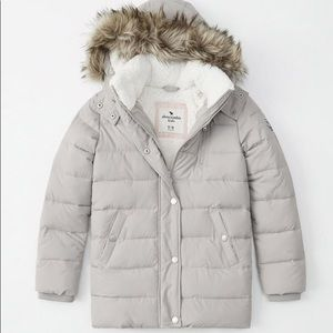 Abercrombie kids girls puffer jacket